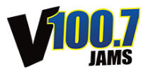 V100.7 Jams sponsor logo